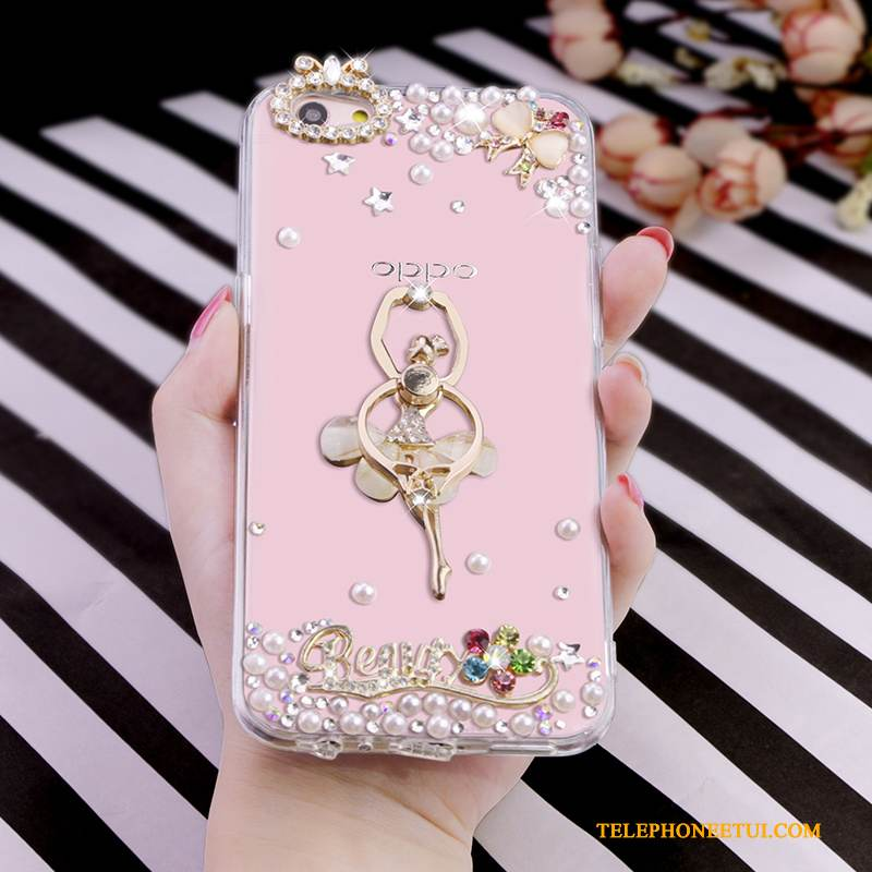 Coque iPhone 6/6s Plus Fluide Doux De Téléphone Rose, Étui iPhone 6/6s Plus Strass Transparent