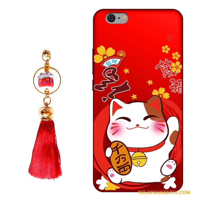 Coque iPhone 6/6s Silicone De Téléphone Rouge, Étui iPhone 6/6s Protection Richesse Incassable