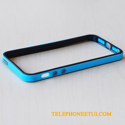 Coque iPhone Se Bleu Incassable, Étui iPhone Se Tendance Border