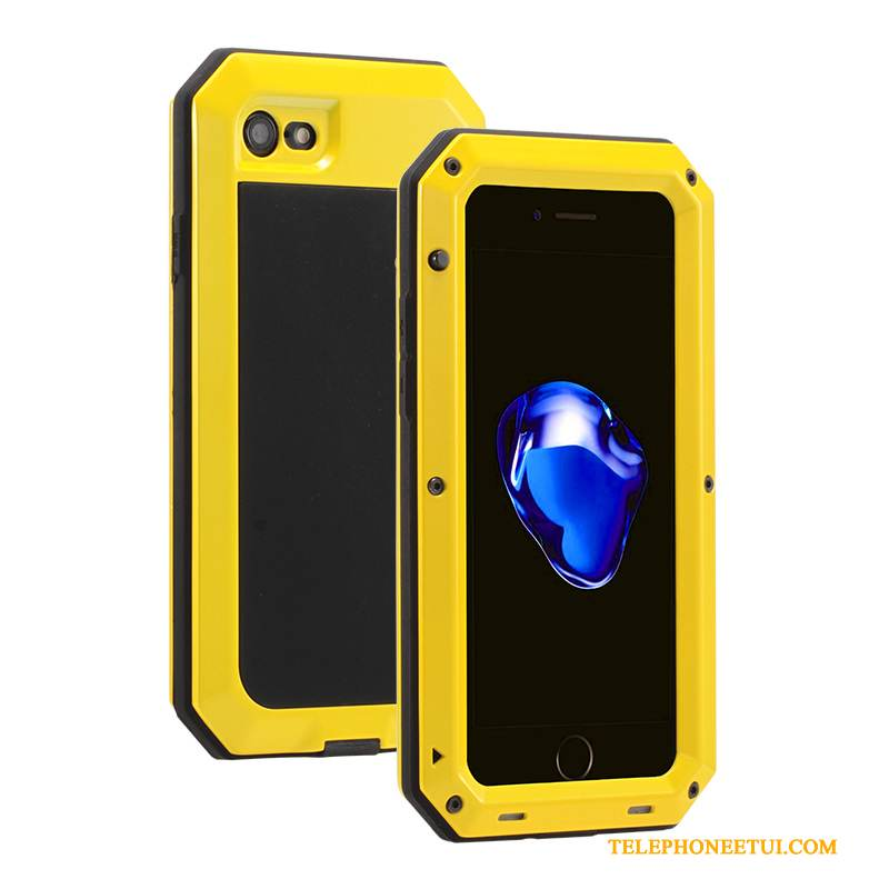 Coque iPhone Se Sacs Jaune Border, Étui iPhone Se Protection Trois Défenses Incassable