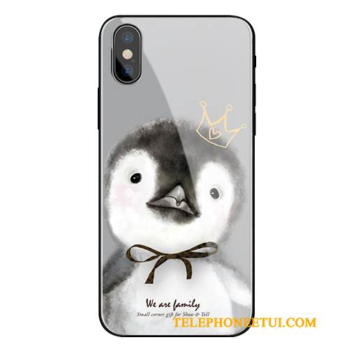 Coque iPhone X Fluide Doux Incassable Verre, Étui iPhone X Protection Gris Nouveau