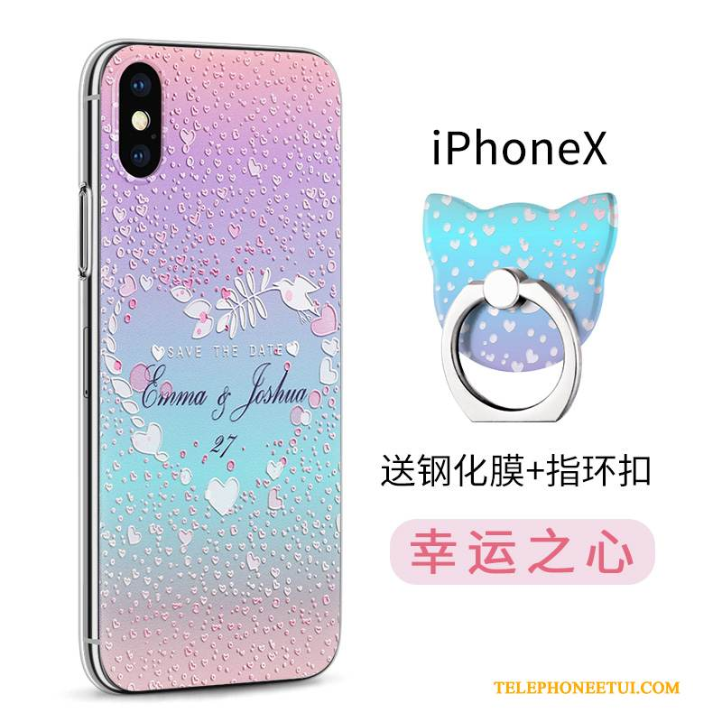 Coque iPhone X Multicolore De Téléphone Nouveau, Étui iPhone X Protection Incassable Transparent