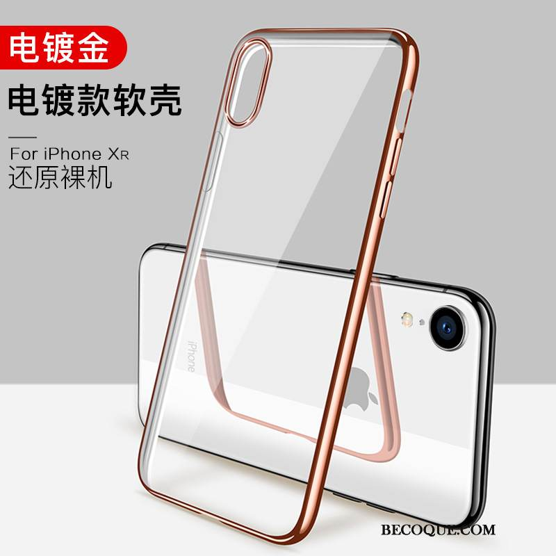 coque iphone xr silicone doux